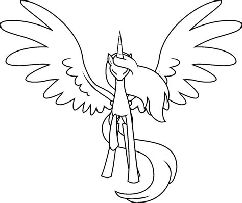 how to draw an alicorn princess from my little pony mlp base deviantart alicorn outline painting ideas