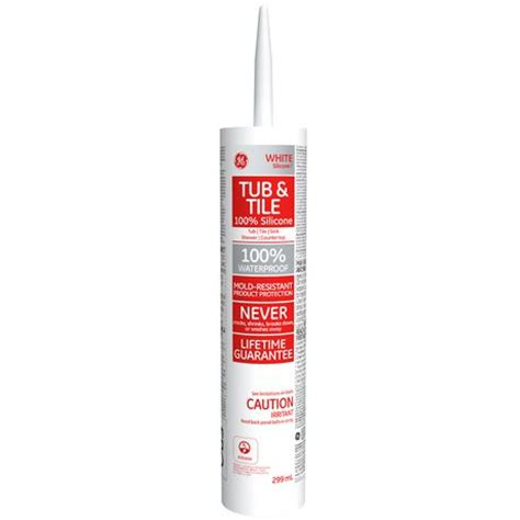 Tub Tile Caulk Reviews Ge Silicone I White Tub And Tile Sealant 299 Ml Walmart Ca