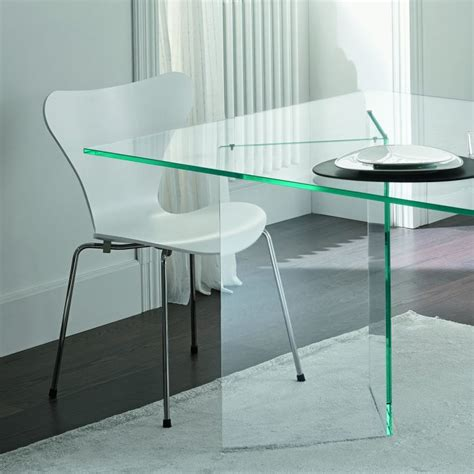 all glass dining room table bacco all glass dining table klarity