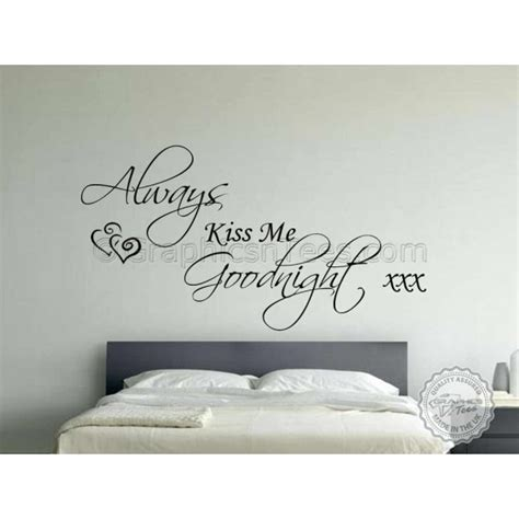 always me goodnight wall stickers always me goodnight bedroom wall sticker quote