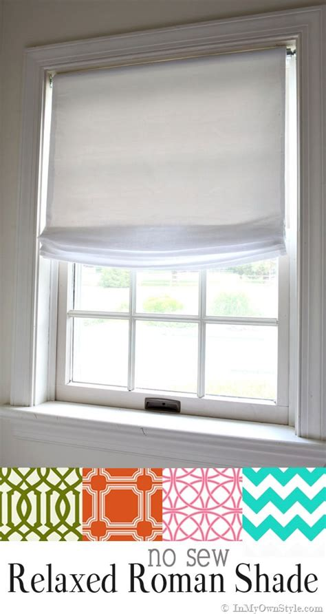 How To Make Roman Shades No Sew - no sew window treatment relaxed roman shades in my own style