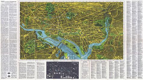 washington dc in usa map large detailed panoramic map of washington d c
