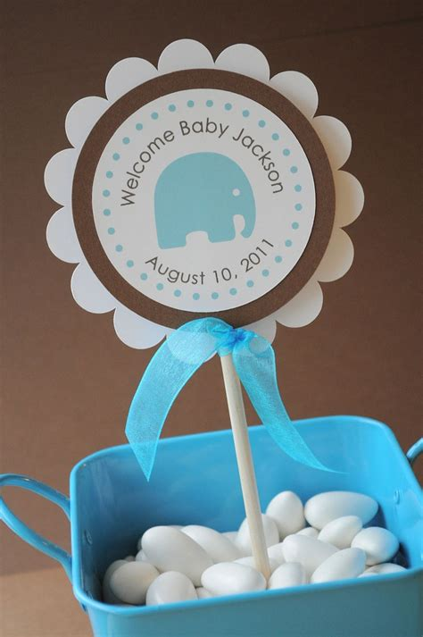 Baby Shower Boy Elephant Theme by Boy Baby Shower Cake Topper Elephant Theme Personalized With Baby S
