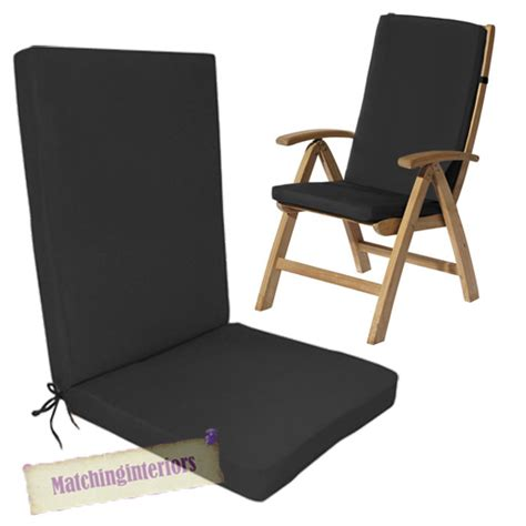 Black Dining Chair Cushions Black Dining Chair Cushions Black Water Resistant Highback Garden Dining Chair Back Seat