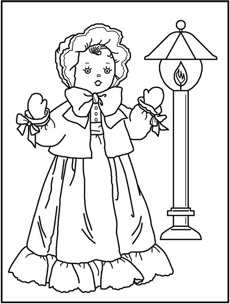 free girl paper doll coloring pages