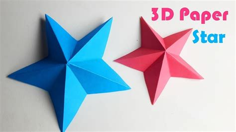 How To Make 3d Paper Crafts - how to make a 3d paper easy origami for