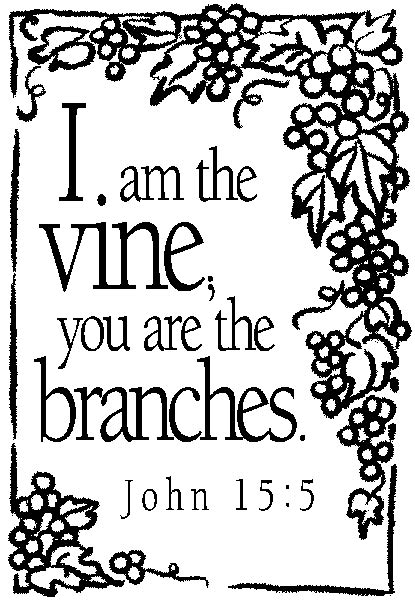 i am the vine you are the branches coloring page santos