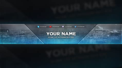 city themed youtube banner template   psd