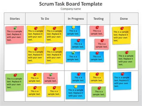 free scrum task board powerpoint template free