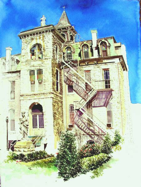 St Ignatius Tx Jesuit David Tripp S Watercolor Wanderings And Recollections