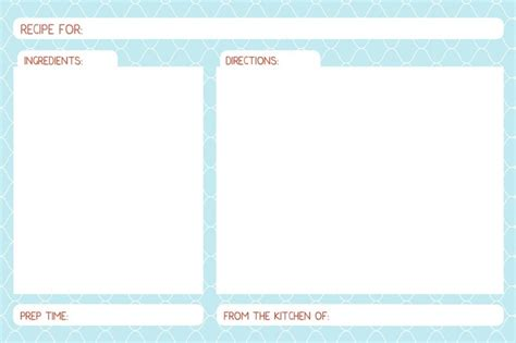 editable board template free printable editable recipe cards for the home