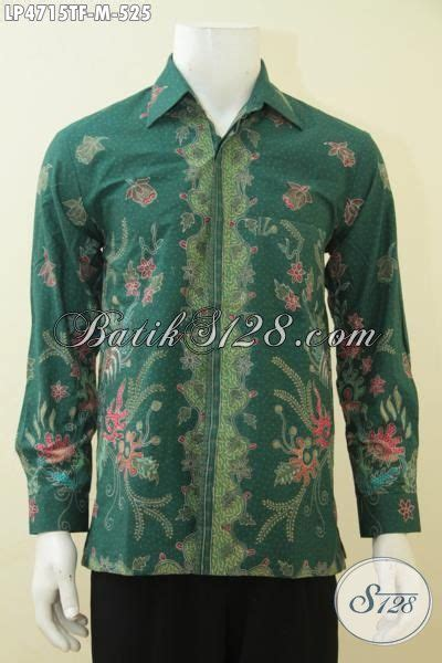 Hem Batik Tulis Asli Motif Kalimantan Ungu Kemeja Etnik F60217015 hem batik lengan panjang warna hijau bermotif mewah