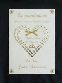personalised 50th golden wedding anniversary card for or husband ebay