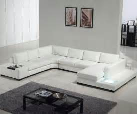 Modern white top grain leather sofa   Modern   Sofas   los angeles   by Sister Furniture