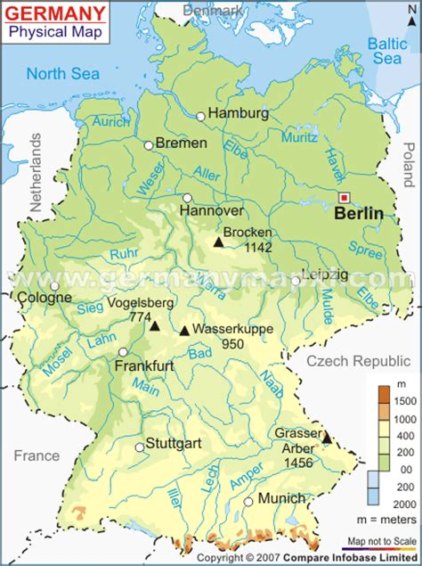 cities in germany germany map and germany satellite images