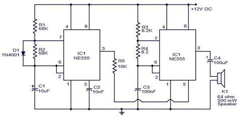 alimentatore 12v con batteria tone siren using 555 timers proteus
