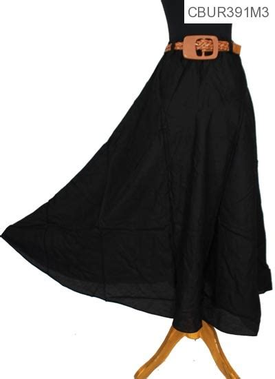 rok katun rayon warna free belt celana rok muslim murah batikunik