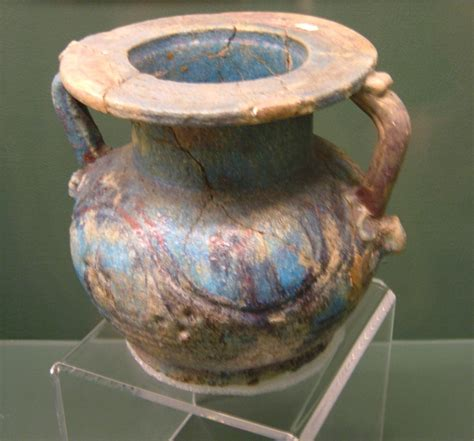 Glazed Pottery Vases File Glazed Roman Period Egyptian Pottery Vessel Rem Jpg