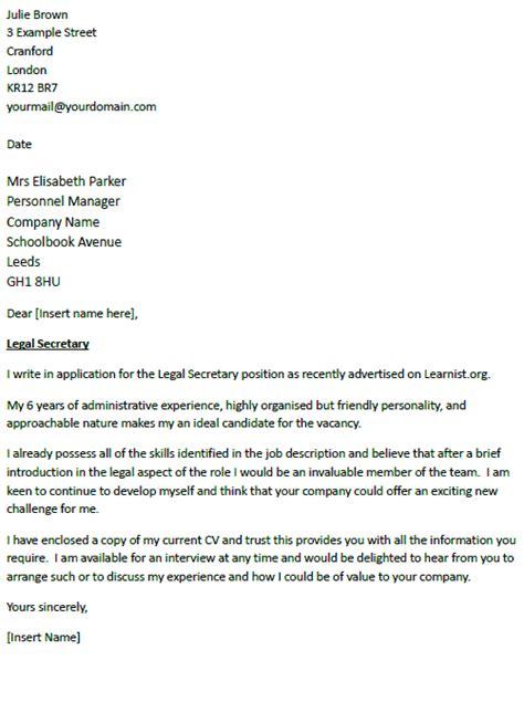 legal secretary cover letter icoverorguk