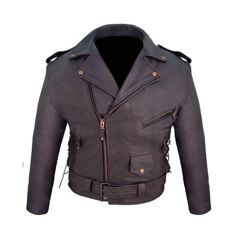 chaquetas de cuero para moto chaqueta clasica para motos m c cuero cafe retro estilo