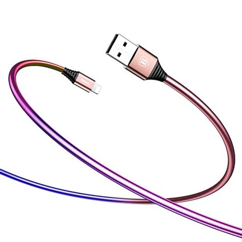 Uneed Kabel Lightning Stainless Steel Charge Data Cable baseus lightning usb kabel 1m f 246 r iphone rosa gradient telefonbutiken