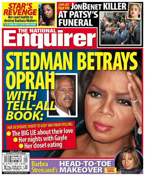 This Weeks National Enquirer Attempts by Tabloid This Week S National Enquirer Stedman