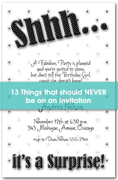 what should you put on your wedding invitation 13 things to never put on an invitation
