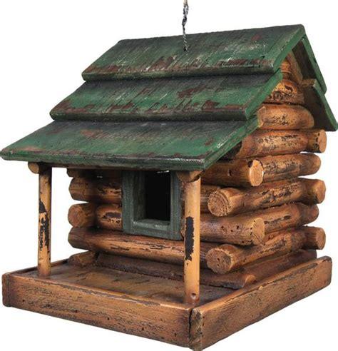 Free Hunting Cabin Plans Wooden Log Cabin Bird House 624 Buffalo Trader Online
