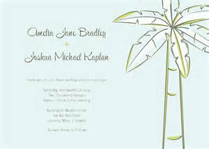 Palm Tree Templates by Palm Tree Wedding Invitations Template Best Template