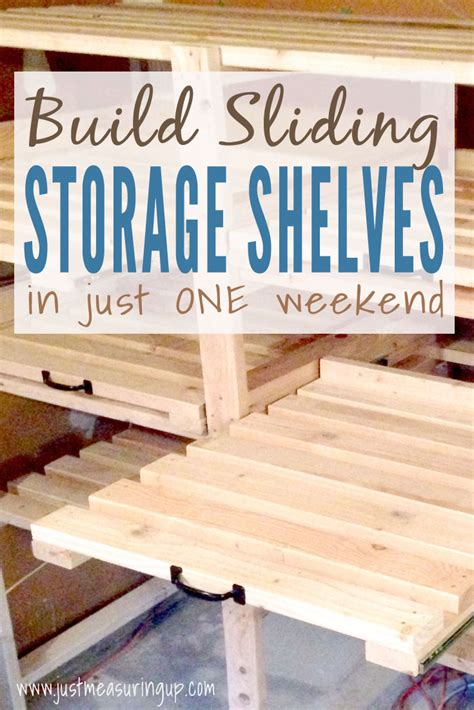 sliding storage shelves sliding storage shelves how to create additional garage