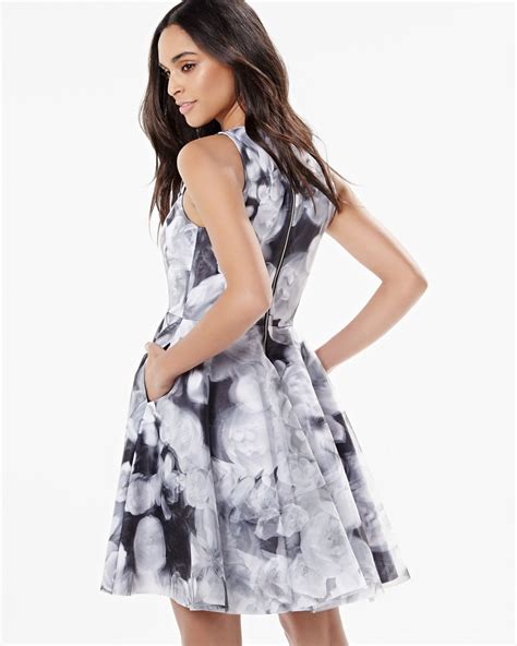 Sleeveless Organza Dress by Sleeveless Fit And Flare Dress With Organza Rw Co