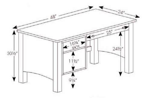average desk size average desk dimensions pictures to pin on pinterest