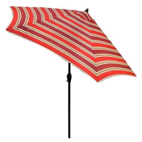 Striped Patio Umbrella 9 Ft Plantation Patterns 9 Ft Aluminum Patio Umbrella In Chili Stripe With Tilt 9900 01219600 The