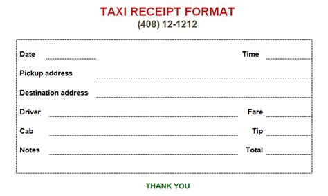 Atlanta Taxi Receipt Template by Taxi Receipt Template Make Your Taxi Receipts Easily