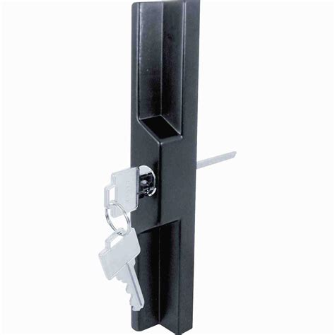 Sliding Glass Door Pull Everbilt 5 3 4 In Black Door Pull 15449 The Home Depot