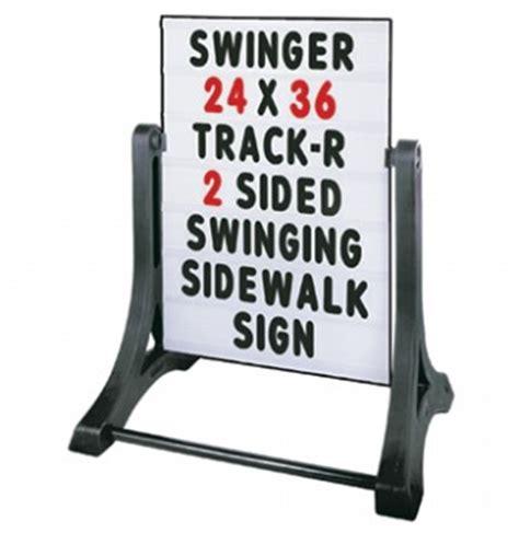 swing signs sidewalk swing sign outdoorletters com
