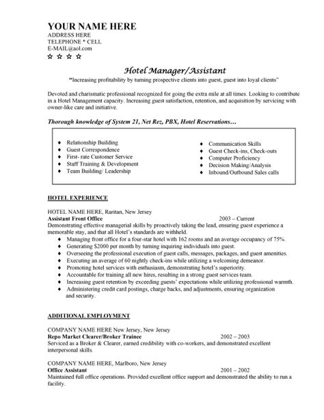Sle Resume Hotel Marketing Manager Resume Hotel Management Sales Management Lewesmr