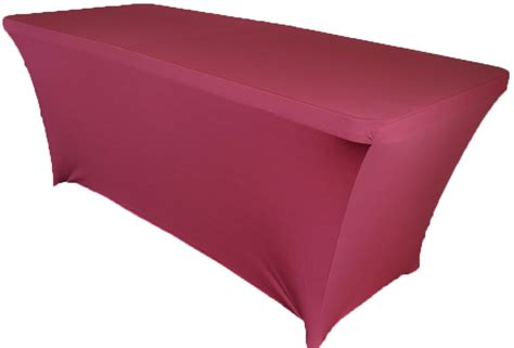 spandex table cover 6 ft rectangular burgundy spandex table covers