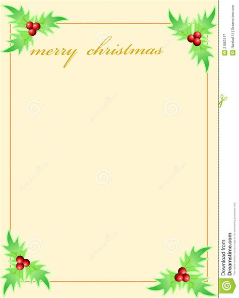 Blank Template For Christmas Greetings Card Stock Illustration Illustration Of Corner Cute Free Card Templates For Photos