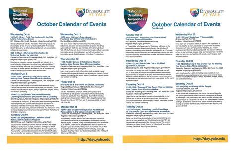 national disability awareness month october calendar