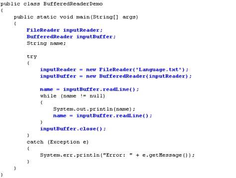 tutorial java bufferedreader java file bufferedreader the best free software for your