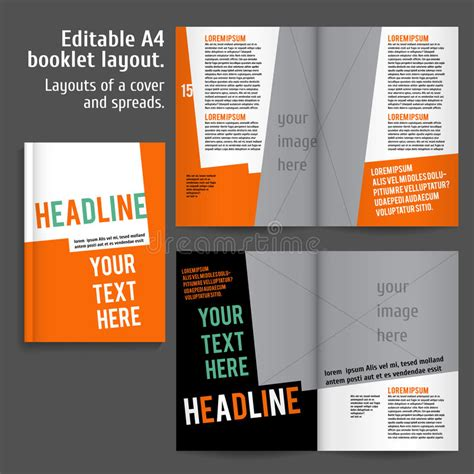 booklet layout design download a4 booklet layout design template with cover stock vector