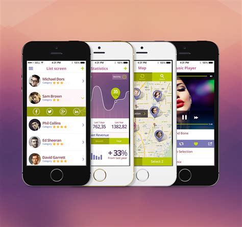 free app for mobile premium mobile app ui kit psd psd