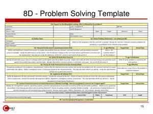 8 step problem solving template 8 d problem solving process