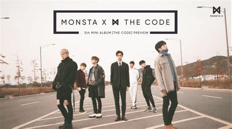 listen monsta x drops album preview for quot the code quot soompi