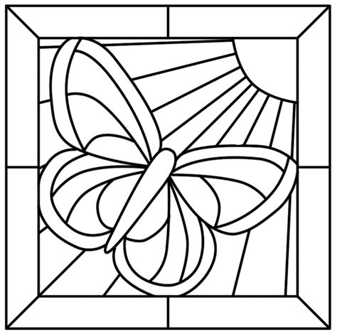 stained glass cross coloring sheet clipart best