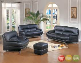 Leather Livingroom Set by Black Leather Living Room Set Modern House
