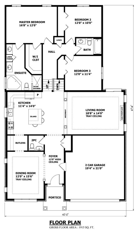 What Is A Split Floor Plan Home by House Plans Canada Stock Custom