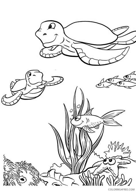 coloring pages of animals and flowers under the sea coloring pages animals and plants