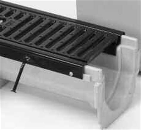 6 wide channel brute drain system with integral cast iron rail zurn commercial trench drains available dumorre systems